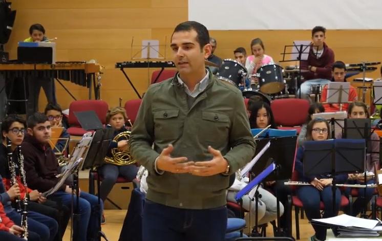 Alcalde de Almería visita a la Asociación Musical San Indalecio